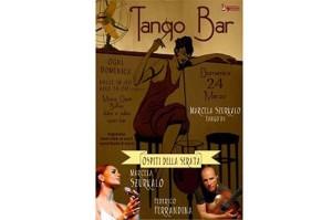 marcela szurkalo con federico ferrandina voce chitarra tango locandina tango bar